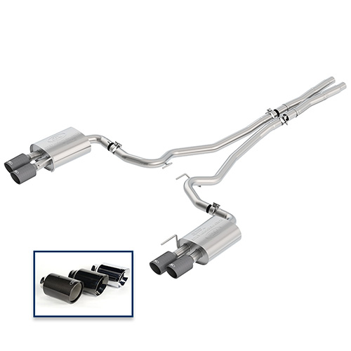 2018-2020 MUSTANG GT 5.0L CAT-BACK TOURING EXHAUST SYSTEM WITH CARBON FIBER TIPS
