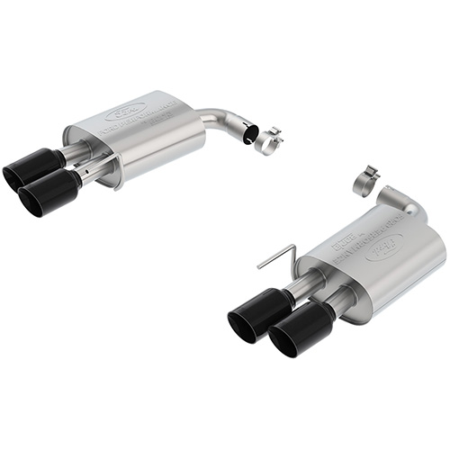 2018-2020 MUSTANG GT 5.0L SPORT MUFFLER KIT - BLACK CHROME TIPS